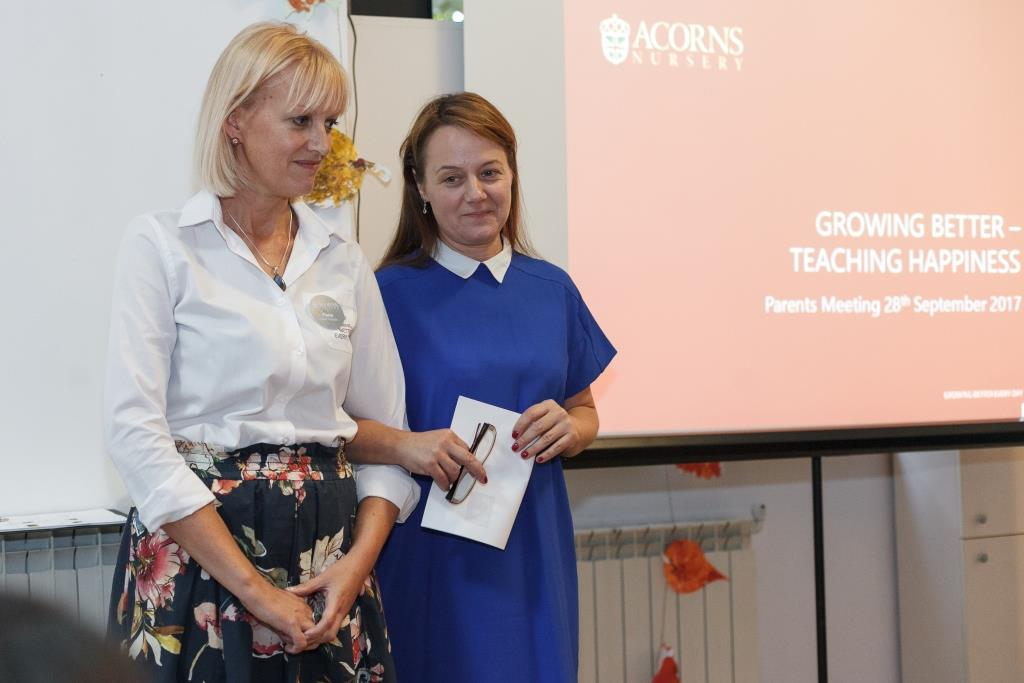 Valentina Secara, Acorns Founder and Fiona Dutu, Head Teacher